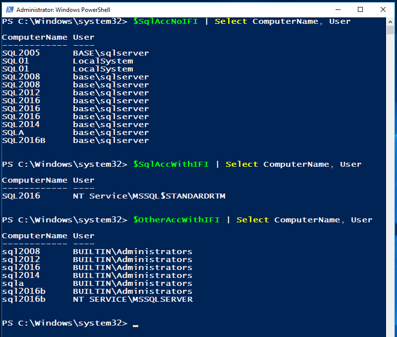 Check IFI with PowerShell | The Power DBA